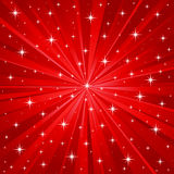röd stjärnavektor för bakgrund Royaltyfri Bild