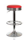 Röd stol för amerikansk matställe Royaltyfria Bilder