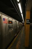 23rd Street Subway Station - Manhattan. Subway passes by stop at 23rd Street in Manhattan, New York Stock Photography
