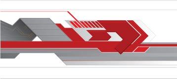 Röd techabstrakt begreppbakgrund Arkivfoton