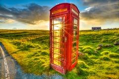 röd telefon Fotografering för Bildbyråer