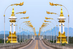 3rd Thai - Lao friendship bridge in Thailand. Stock Image