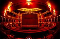 röd theatre Royaltyfria Bilder