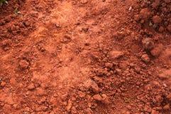 Röd torr grungy lera Arkivbild