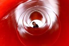 röd tunnel Fotografering för Bildbyråer