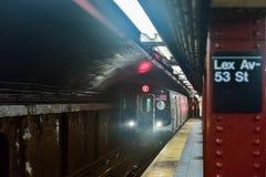 53rd ulicy stacja - NYC metro obrazy stock