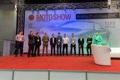 3rd upplaga av MOTO-SHOWEN i Krakow poland Arkivfoton