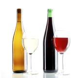 röd vit wine Arkivfoto