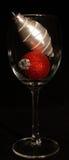 röd vit wine för jul Arkivbild