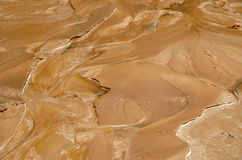 Röd våt leragyttja Royaltyfri Bild