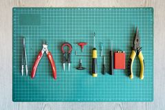 Rda或卷修造工具为vaping 免版税库存照片