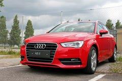 Röda Audi A3 Royaltyfria Bilder