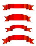 röda banerbaner Royaltyfria Bilder