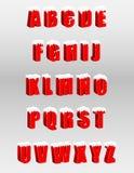 Röda bokstäver 3d för alfabet Royaltyfri Bild