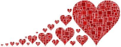 röda hjärtor Fotografering för Bildbyråer