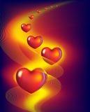 röda hjärtor Royaltyfri Foto