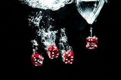 Röda kuber Royaltyfria Bilder
