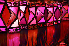 röda lyktor Fotografering för Bildbyråer