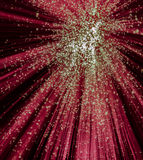 Röda och gröna Starburst på svart bakgrund Royaltyfri Bild