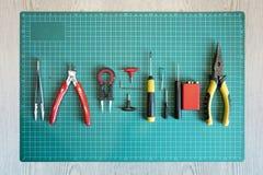 Rda ou ferramentas da construção da bobina para vaping foto de stock royalty free