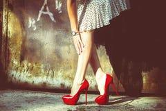 Röda skor Arkivbilder