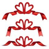 Röda valentindaghjärtor Royaltyfria Bilder