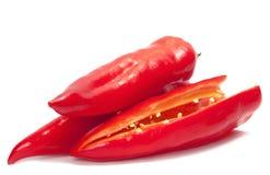 röda varma peppar för chili Arkivfoton