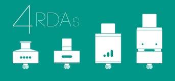 4 RDAs集合 库存照片