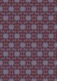 Rödbrun sömlös bakgrund med en oval tappningblåttprydnad Arkivfoto