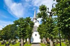 Råde church (east) Stock Photos