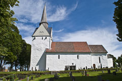 Råde church (south) Royalty Free Stock Photos