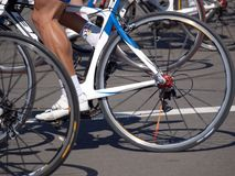 Räder und Füße Rennläufer Lizenzfreies Stockfoto