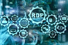 RDP Daleki Desktop protok?? ?miertelnie us?ugi serweru t?o ilustracji