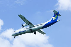 RDPL-34176 ATR72-500 de Lao Airline Images stock
