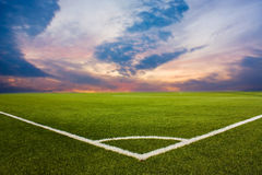 śródpolna piłka nożna Fotografia Stock
