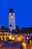 rådsibiu torn transylvania Arkivfoto