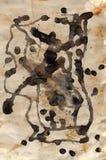 Rdza i farba na papierze Obrazy Stock