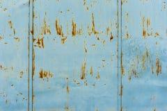 Rdza na błękitnej ścianie Zdjęcie Stock