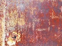 Rdza na brown starym malującym metalu obraz royalty free