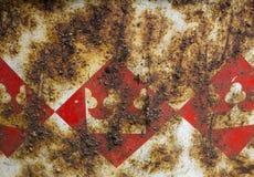 Rdza na żelazie z wzorem zdjęcia stock