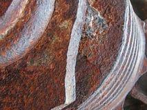 rdzewieć brąz stalową maszynerię z szorstkim tekstura abstrakta tłem zdjęcia royalty free