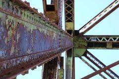 Rdzewieć Bridżową strukturę Obraz Royalty Free