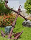 Rdzewieć kotwicę na pokazie Obrazy Stock