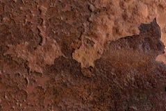 Rdzewiejąca żelazna metalu tła tekstura zdjęcie stock