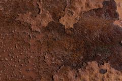 Rdzewiejąca żelazna metalu tła tekstura zdjęcia royalty free
