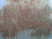 Rdzewiejąca metal tekstura, metal wystawiający czas, ośniedziały stary metal, metalu tło Obraz Stock