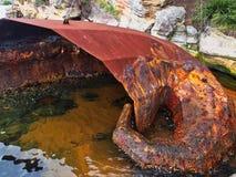 Rdzewiejąca Nowożytna Stalowa rzeźba, Sydney schronienie, Australia obraz stock