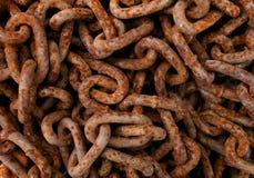 Rdzewiejący łańcuchy Zdjęcia Stock