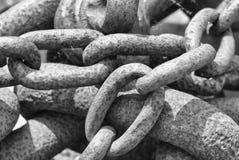 Rdzewiejący łańcuchy Fotografia Stock