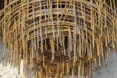 Rdzewiejący żelazo drut obrazy royalty free